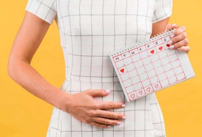 Ilustrasi wanita yang sedang menstruasi.