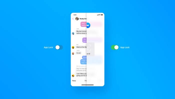 Fitur keamanan App Lock di aplikasi Messenger