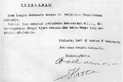 teks pidato proklamasi kemerdekaan Republik Indonesia