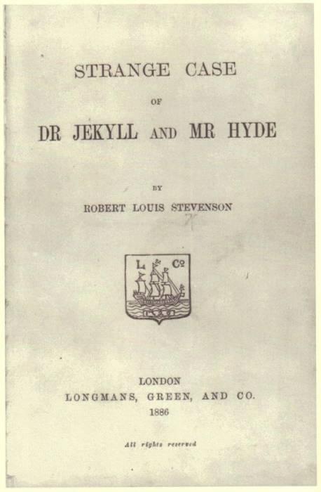 "Halaman judul novel ""Strange Case of Dr Jekyll and Mr Hyde"
