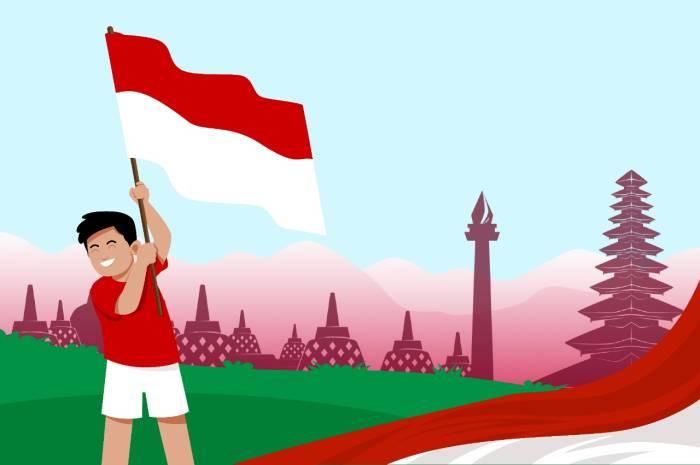 Kibarkan bendera sang merah putih (Indozone.id)