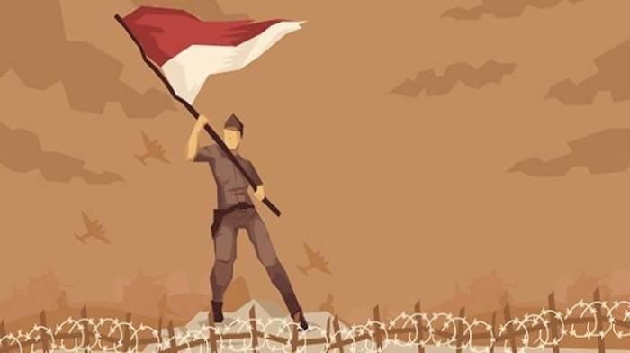 Kibarkan bendera merah putih teguh pertahankan kemerdekaan