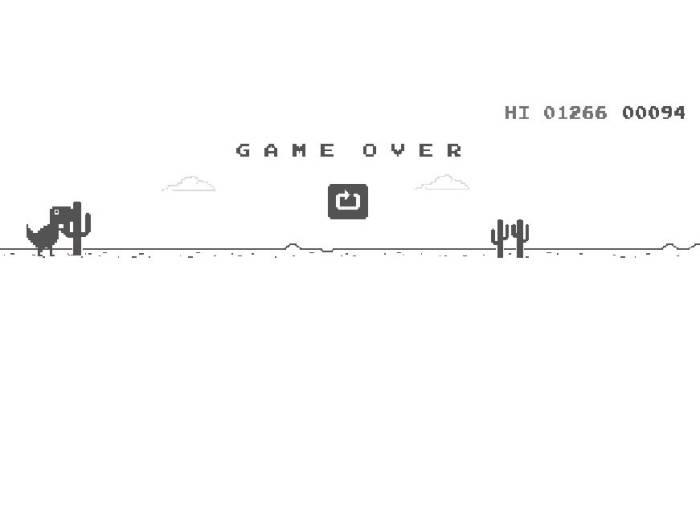 Asal usul Game Dinosaurus Google Chrome.