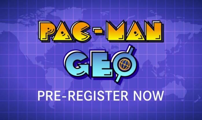 Game PAC-MAN GEO di platform mobile