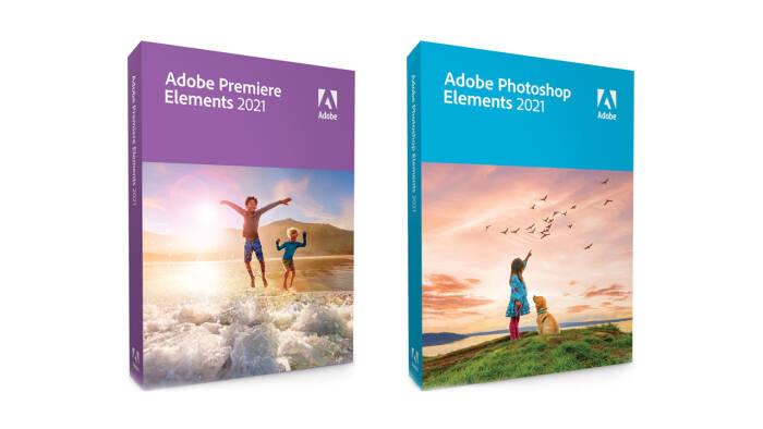 Cover box dari Adobe Premiere Elements 2021 dan Photoshop Elements 2021