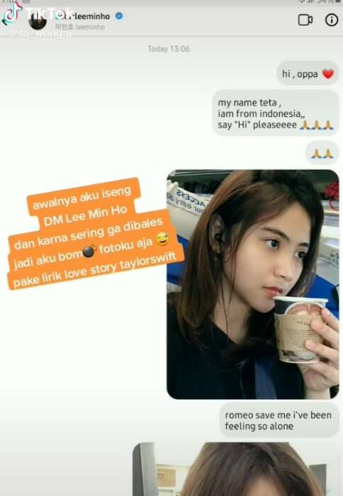 dm instagram dibalas Lee min ho, netizen histeris