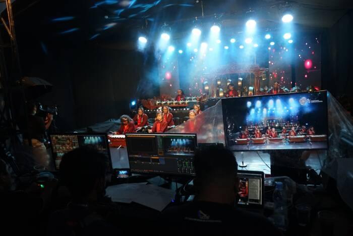 Group Gamelan Mben Surup tampil saat acara Yogyakarta Gamelan Festival 2020 di Yogyakarta