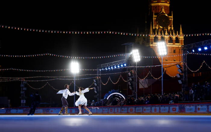 Gelanggang es terbesar di Moskow