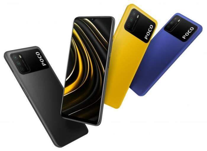 Tampilan smartphone POCO M3