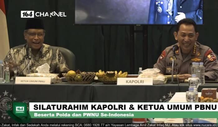 Listyo Sigit Prabowo saat bertemu Ketua PBNUSaid Aqiel Siradj. (Youtube)