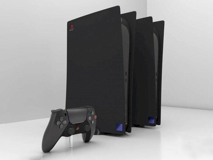 Tampilan console PlayStation 5 edisi retro berwarna hitam (photo/SUP3R5)